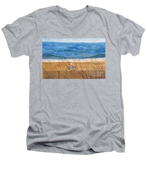 Seaside In Massachusetts Men's V-Neck T-Shirt