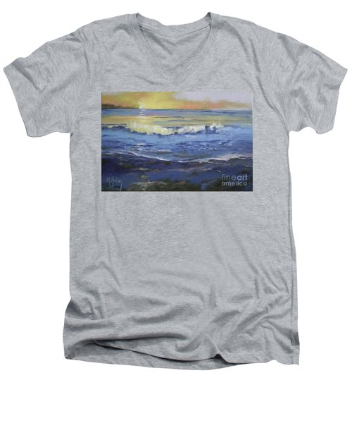 Seaside Men's V-Neck T-Shirt by Mary Hubley