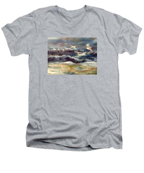 Seaside Serenade Men's V-Neck T-Shirt