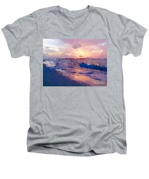 Seaside Swirl Men's V-Neck T-Shirt