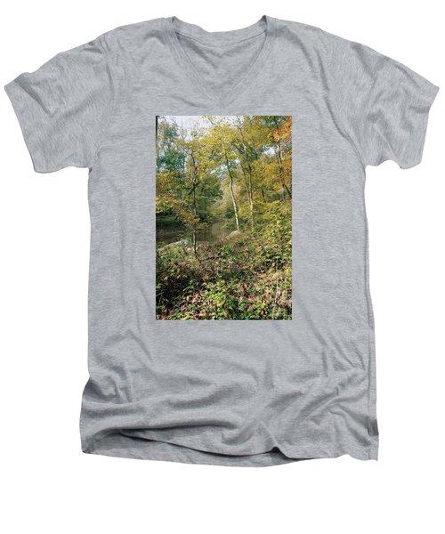 Men's V-Neck T-Shirt featuring the photograph Season Of Change by John Rivera