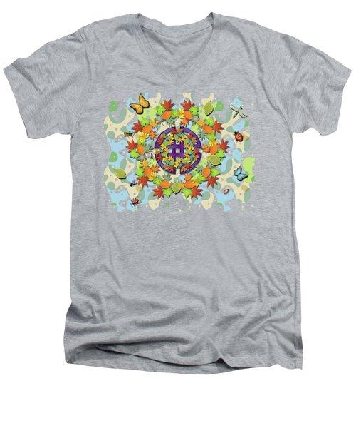 Seasonal Cycle Men's V-Neck T-Shirt