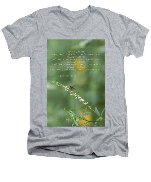 Seasons Men's V-Neck T-Shirt by Diane Giurco