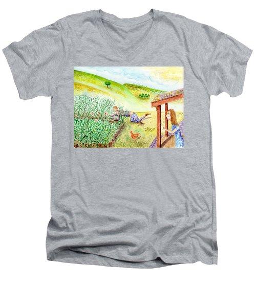 Seasons First Tomatoes Men's V-Neck T-Shirt