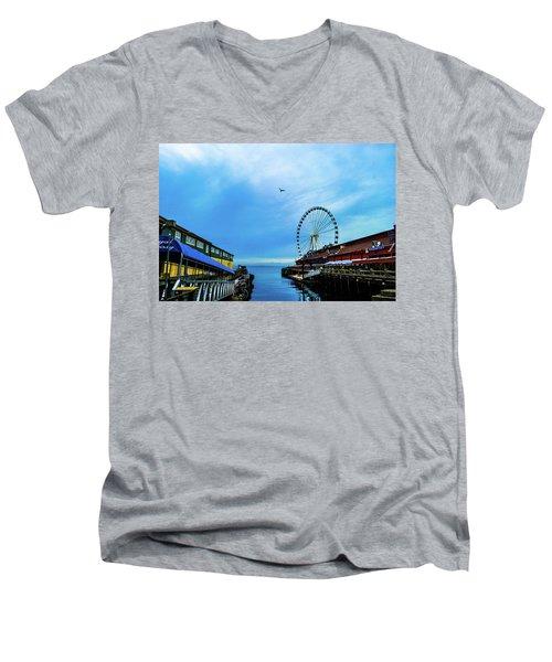Seattle Pier 57 Men's V-Neck T-Shirt