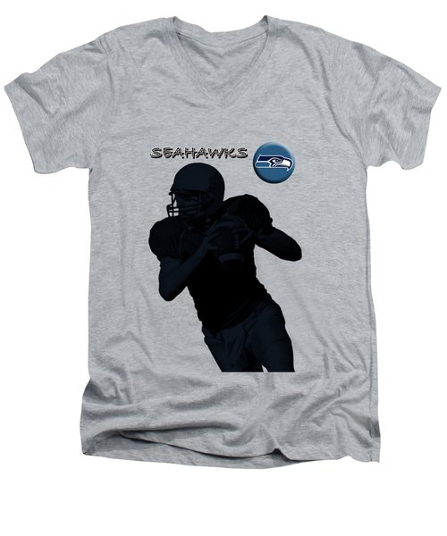 Seattle Seahawks Football Men's V-Neck T-Shirt