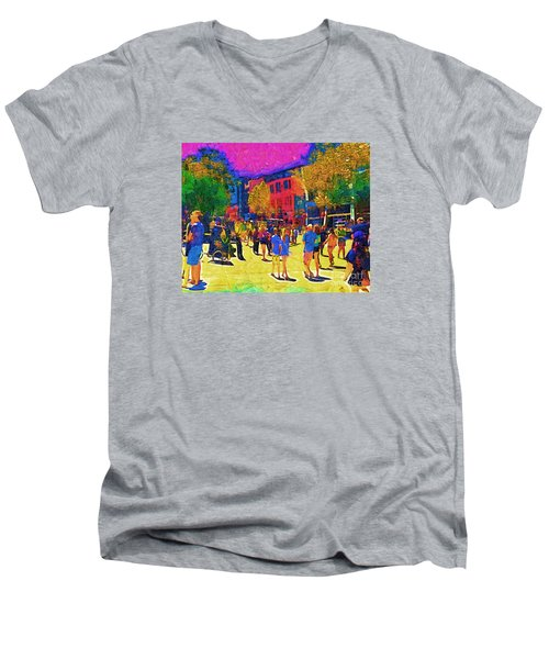 Seattle Street Scene Men's V-Neck T-Shirt