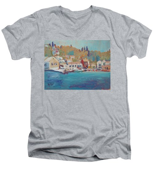 Seaview Lggos Paxos Men's V-Neck T-Shirt by Nop Briex