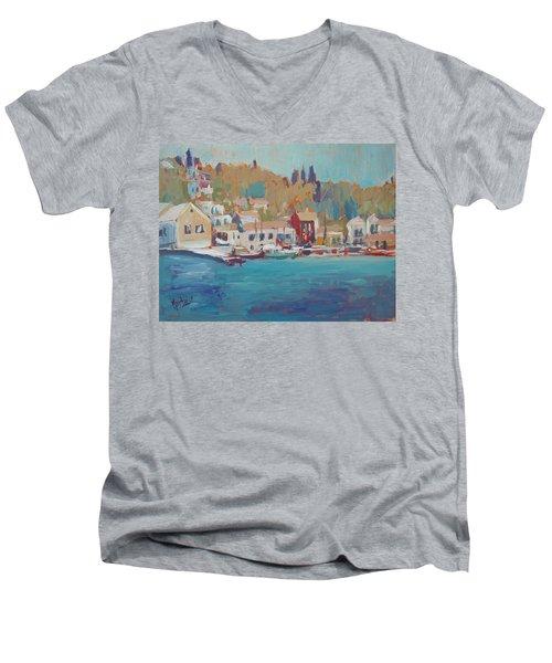 Seaview Lggos Paxos Men's V-Neck T-Shirt