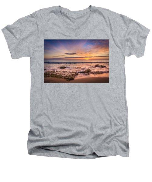 Seaview Sunrise. Men's V-Neck T-Shirt