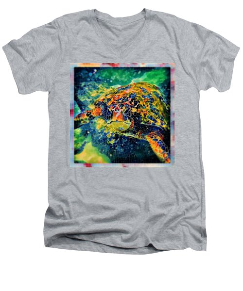 Sebastian The Turtle Men's V-Neck T-Shirt