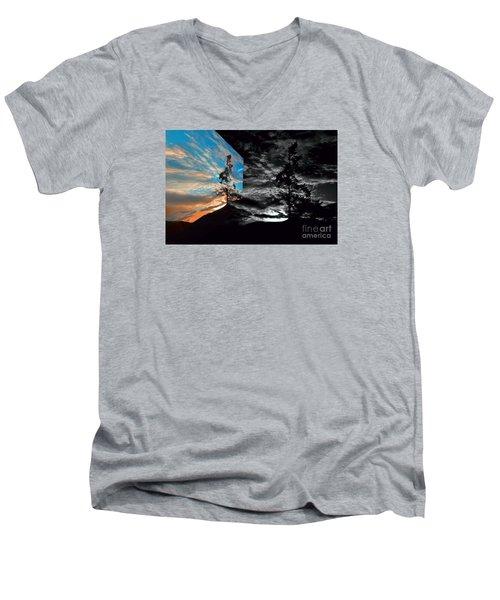Sechelt Tree Series 3 Men's V-Neck T-Shirt by Elaine Hunter