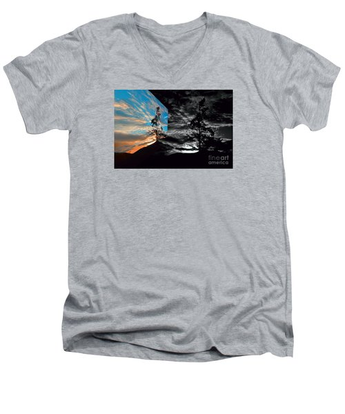 Sechelt Tree Series 3 Men's V-Neck T-Shirt