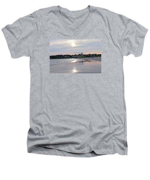 Second Beach Newport Ri Men's V-Neck T-Shirt