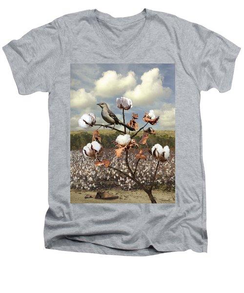 Secret Of The Mockingbird Men's V-Neck T-Shirt