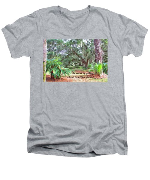 Secret Pathway Men's V-Neck T-Shirt