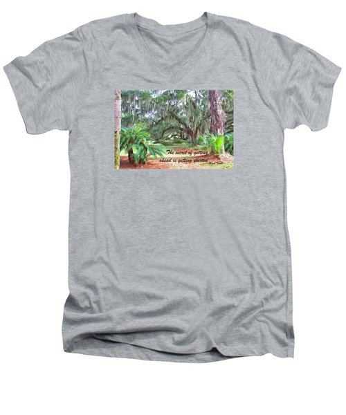 Secret Pathway Men's V-Neck T-Shirt