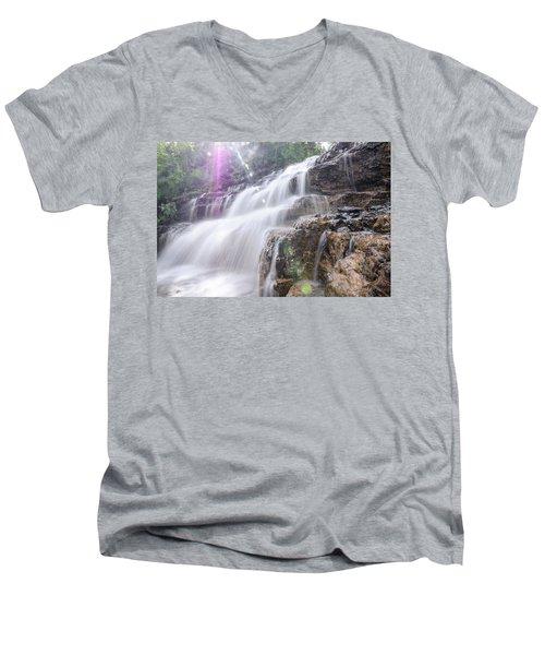 Secret Waters Flow Men's V-Neck T-Shirt