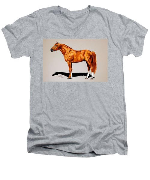 Secretariat - Triple Crown Winner By 31 Lengths Men's V-Neck T-Shirt