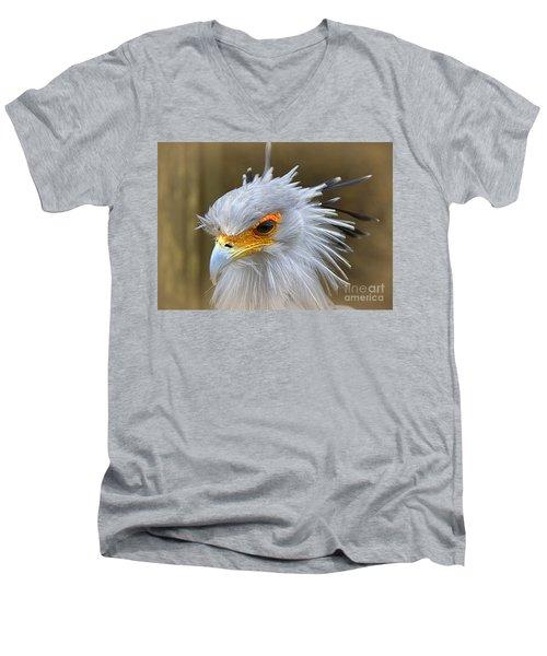Men's V-Neck T-Shirt featuring the photograph Secretary by Lisa L Silva