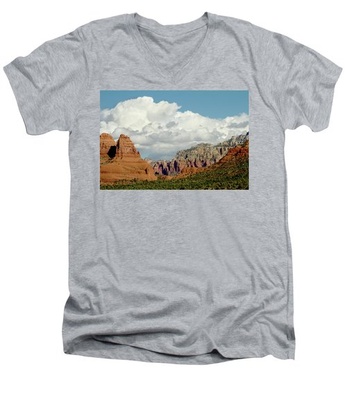 Men's V-Neck T-Shirt featuring the photograph Sedona Arizona by Bill Gallagher