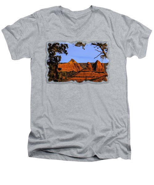 Sedona Red Rocks Men's V-Neck T-Shirt