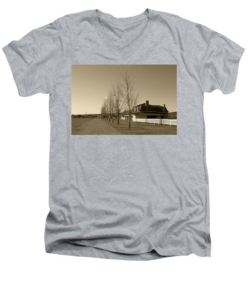 Men's V-Neck T-Shirt featuring the photograph Sedona Series - Alley by Ben and Raisa Gertsberg