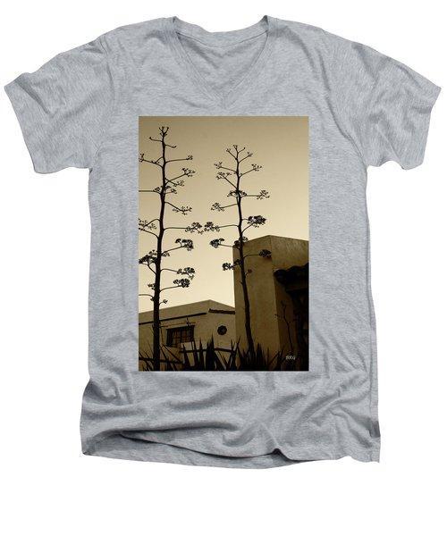 Men's V-Neck T-Shirt featuring the photograph Sedona Series - Desert City by Ben and Raisa Gertsberg