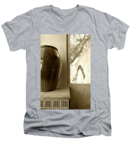 Men's V-Neck T-Shirt featuring the photograph Sedona Series - Jug And Window by Ben and Raisa Gertsberg