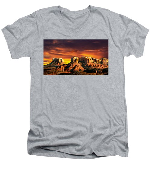 Sedona Vista Men's V-Neck T-Shirt