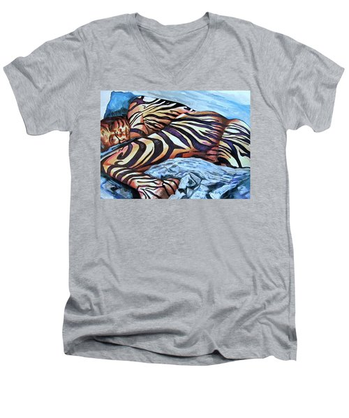 Seduction Of Stripes Men's V-Neck T-Shirt