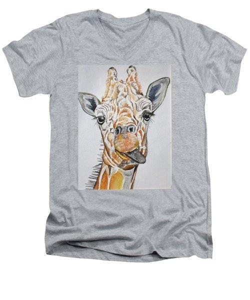 See My Tongue Men's V-Neck T-Shirt