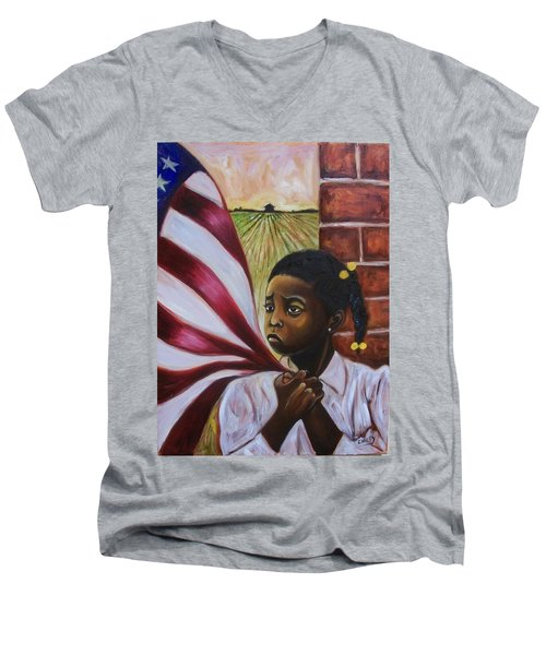 See Yourself Men's V-Neck T-Shirt by Emery Franklin