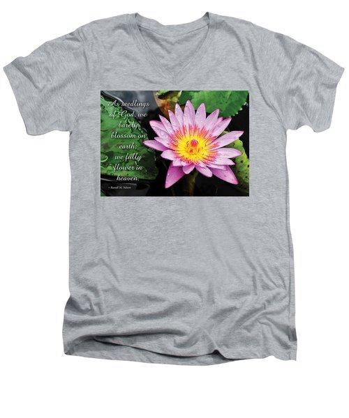 Seedlings Of God Men's V-Neck T-Shirt