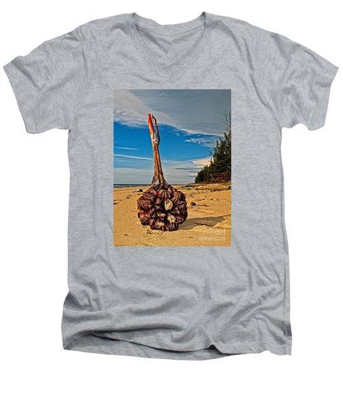 Seeds For The World Men's V-Neck T-Shirt by Gary Bridger