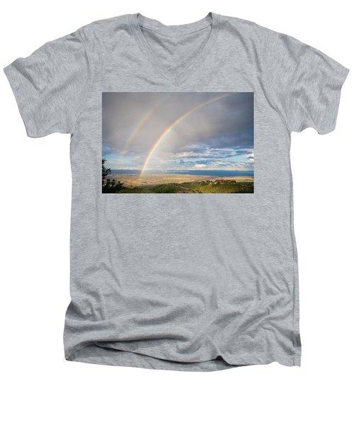 Seeing Double Men's V-Neck T-Shirt