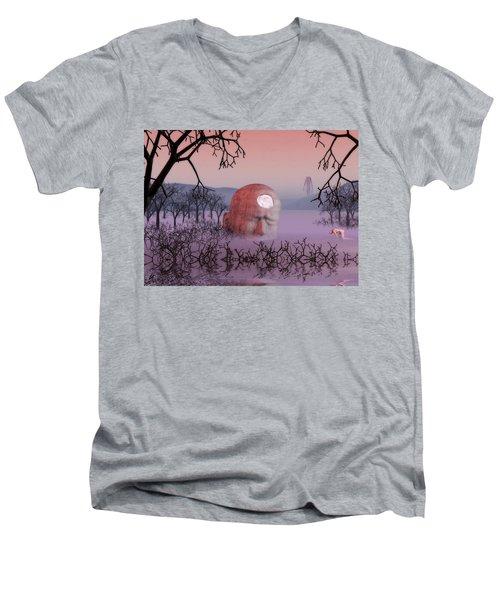 Seeking The Dying Light Of Wisdom Men's V-Neck T-Shirt by John Alexander