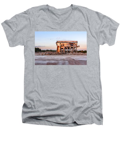 Men's V-Neck T-Shirt featuring the photograph Seen Better Days by Nick Bywater