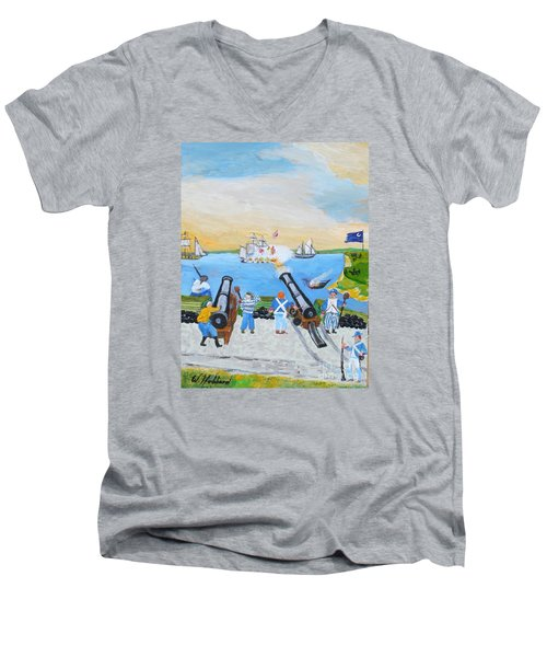 Seige Of Charleston, Sc Men's V-Neck T-Shirt