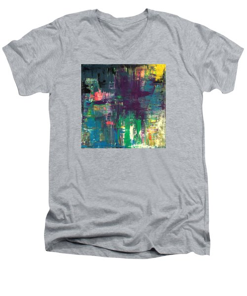 Seize The Day 48x48 Print Abstract Painting Modern Art Original Men's V-Neck T-Shirt
