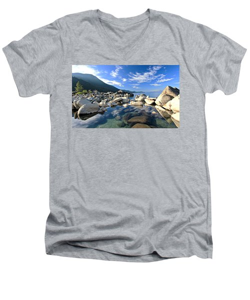 Sekani Morning Glory Men's V-Neck T-Shirt