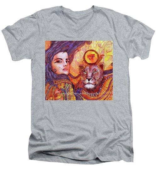 Sekhmet Men's V-Neck T-Shirt