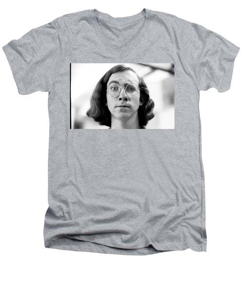 Self-portrait, With Raised Eyebrow, 1972 Men's V-Neck T-Shirt