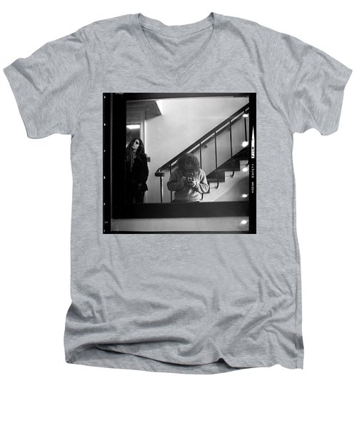 Self-portrait, With Woman, In Mirror, Full Frame, 1972 Men's V-Neck T-Shirt