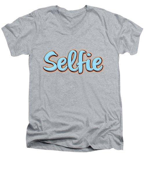 Selfie Tee Men's V-Neck T-Shirt by Edward Fielding