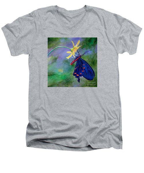 Semperi Swallowtail Butterfly Men's V-Neck T-Shirt