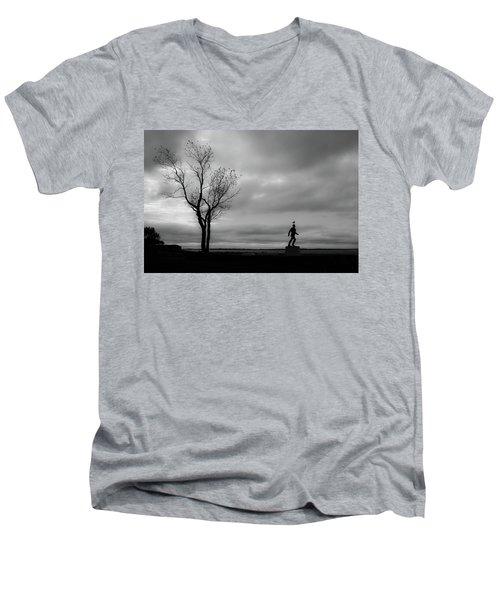 Senator Chafee And The Tree Men's V-Neck T-Shirt