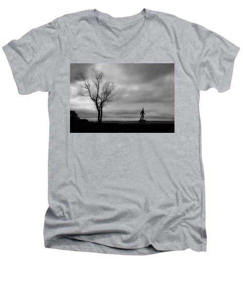 Senator Chafee And The Tree Men's V-Neck T-Shirt