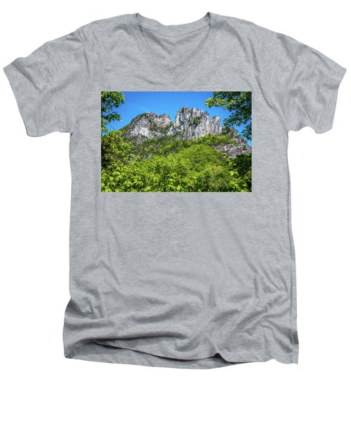 Seneca Rocks Men's V-Neck T-Shirt