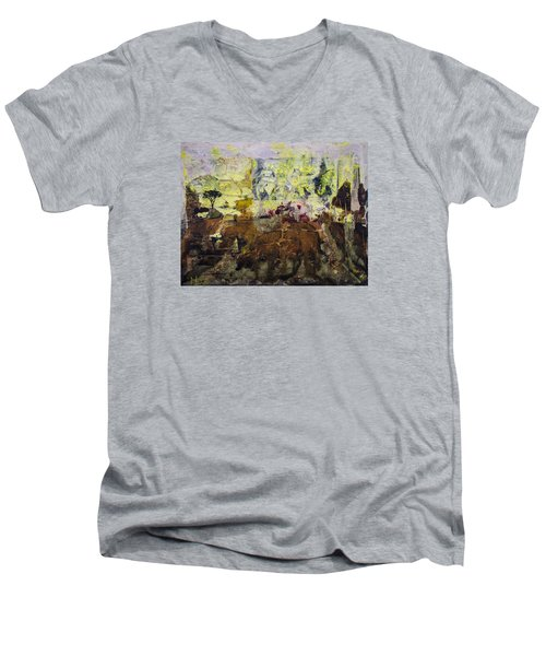 Senegambia Men's V-Neck T-Shirt by Ron Richard Baviello